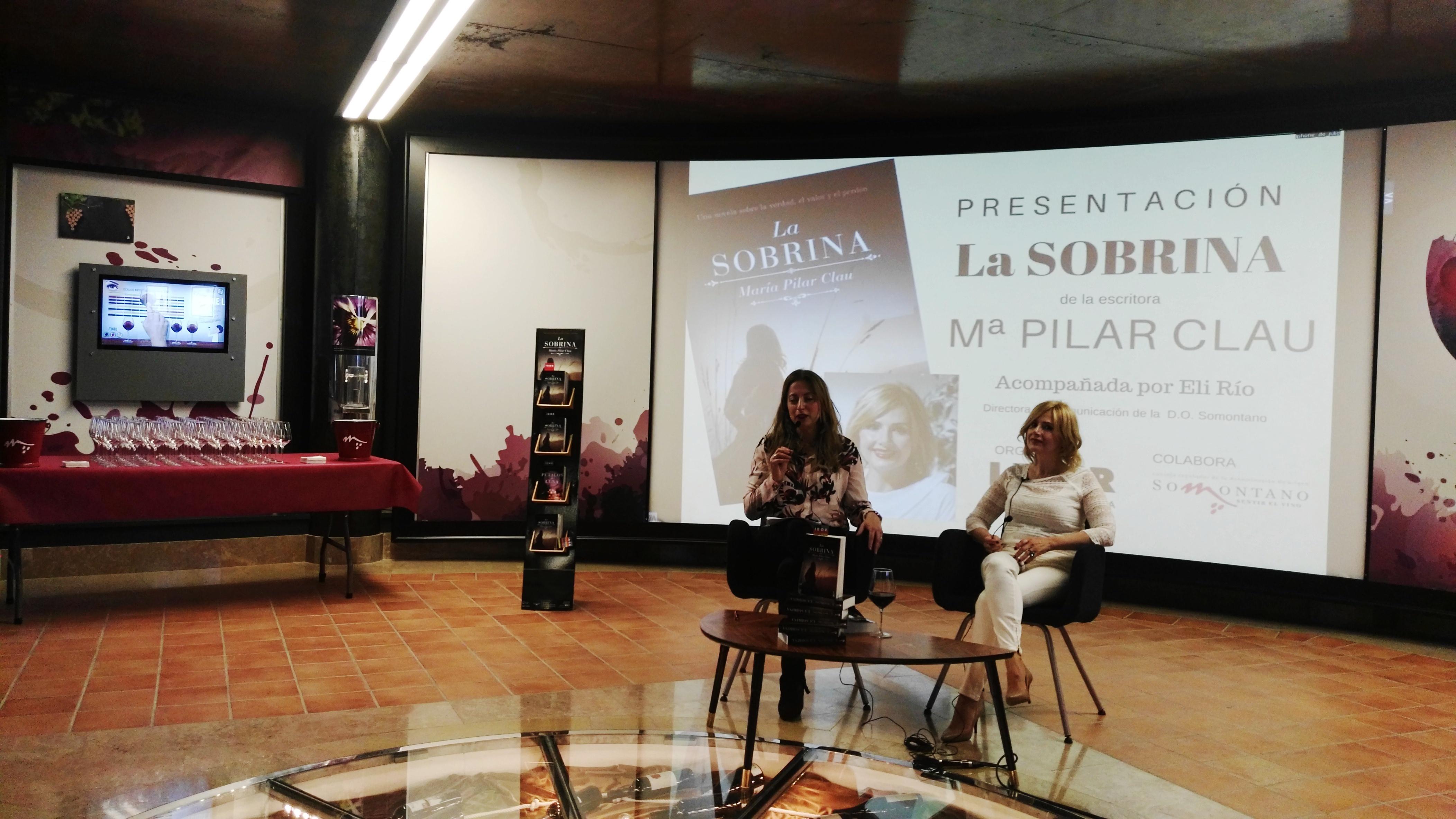 Presentación de La sobrina, María PIlar Clau en Barbastro