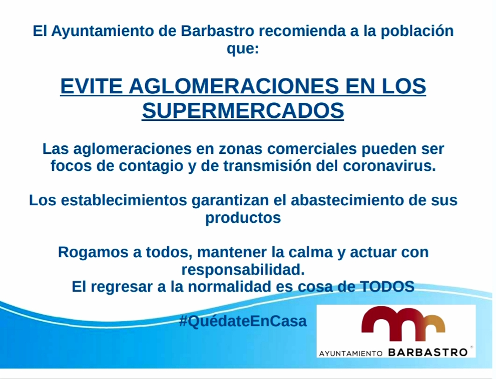 AYUNTAMIENTO BARBASTRO RECOMENDACIONES COVID