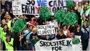 Imagen de una manifestación del movimiento FFF donde esta Greta Tunberg ®Copyright ACN