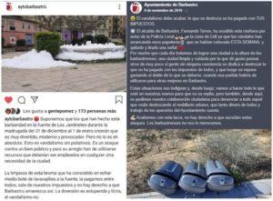 Capturas de pantalla obtenidas de las redes sociales del Ayuntamiento de Barbastro ©Instagram y Facebook