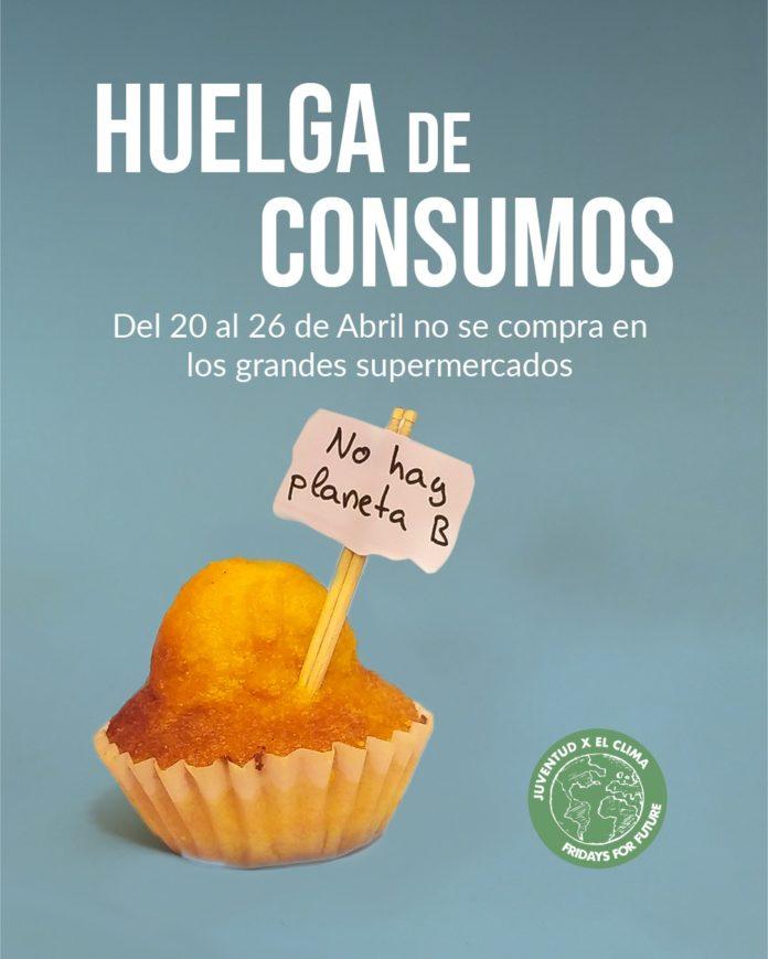 Imagen portada de la huelga de consumo © Friday For Future Aragón