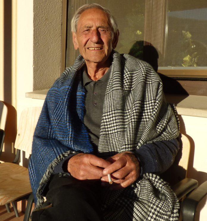 Mario Díaz en su estancia en la residencia de Campo. Ángel Huguet.