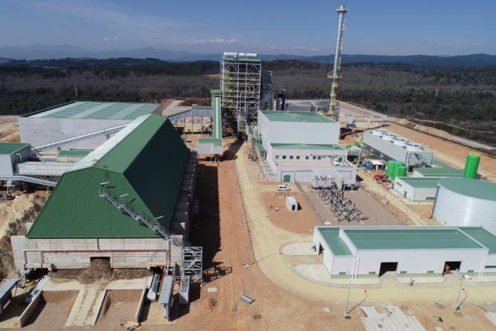 Vista aérea Planta Cubillos del Sil biomasa Forestalia, final