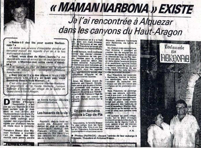 Antoine Blasco y Théodora Valls aparecen muy sonrientes en el recorte adjunto, publicado en un diario del Languedoc-Roussillon.