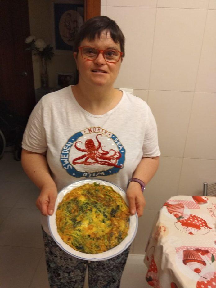Receta de 'Tortilla de espinacas, chistorra y queso' de Berta Fumanal