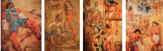 Imágenes del mural de Miguel Vela Zanetti en el Palacio Consistorial de la capital de República Dominicana3.